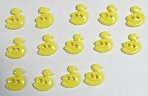 "Vtg JHB International Realistic Novelty Plastic BUTTONS Baby Yellow Ducks 1/2"""