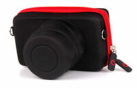 Protective Black & Red Carry Case for Canon EOS M5 / M / M10 / M2 Camera