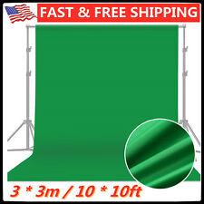 10' x 10' Chromakey Green Screen Muslin Background Backdrop for Photography New!