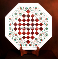 White Marble Chess Real Coffee Table Tops Inlaid Arts Decor Home Furniture H3701