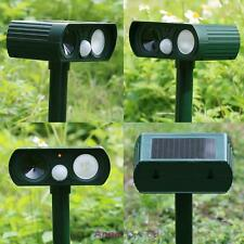 Ultrasonic SOLAR Garden Animal Scarer PIR Deterrent Cat Dog Fox Repeller
