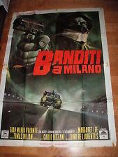 MANIFESTO 4F BANDITI A MILANO LIZZANI VOLONTE' MILIAN AUTO CAR ALFA ROMEO GIULIA