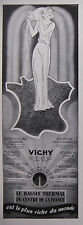 PUBLICITÉ 1935 VICHY LE BASSIN THERMAL DU CENTRE DE LA FRANCE - ADVERTISING
