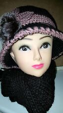 Joblot 10 Sets Vintage Knitted Winter Hat and Scarf Sets Ladies Artificial  New