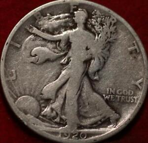 1920-S San Francisco Mint Silver Walking Liberty Half