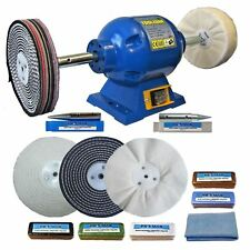 "6"" Bench Grinder 375W Bench Polisher With 6"" Metal Polishing Kit Machine 1.1"