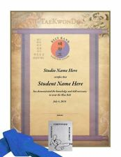 Martial Arts Certificates - TaeKwonDo & Karate Rank Certificates - Pack of 10