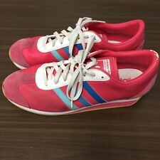 b8ed159c7c91 Adidas LA Marque A3 Bandes Pink Blue White Cross Training Shoes Size Mens 14