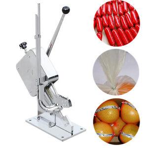 Manual U-shape Sausage Clipper Clipping Machine+1 Boxes clips(4000PCS) Chromed