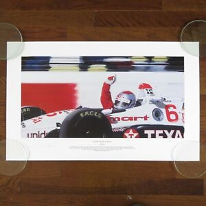 MARIO ANDRETTI THANKS FOR THE MEMORIES VINTAGE SIGNED / AUTOGRAPHED LITHOGRAPH