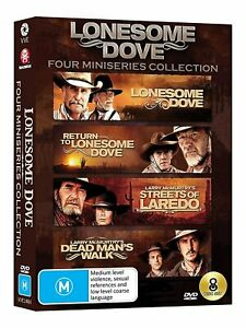 LONESOME DOVE 4 Miniseries DVD Collection Streets of Laredo + Dead Man's Walk