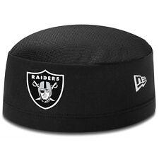 Oakland Raiders New Era NFL Training Skull Cap On Field Skully Black Stretch