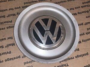 1J0601149B 1999 - 2011 Volkswagen Golf OEM Center Cap Plastic Silver 1 See Info