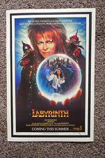 Labyrinth Movie Lobby Card poster David Bowie George Lucas Jim Henson