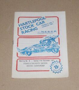 1977 Hartlepool Brisca F2 stock car & Stock Rods programme, 11 Sept