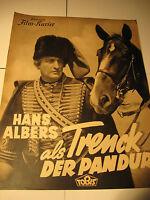 Hans Albers in Trenck Pandur 217-IFK Nr.3121 aus den 30.40.Jahren, film program