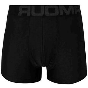 Under Armour Men's Tech 3-inch Boxerjock 2-Pack, Black (001)/Black, Size Medium