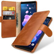 for HTC U12+ U12 Plus Premium Leather Flip Case Cover Brown Red Black Blue Card