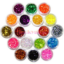 18 Colors Nail Art Tiny Hexagonal Glitter Sequins Powder Acrylic UV Decoration