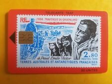 Télécarte Taaf n° 09 - Paul Emile Victor Traversée du Groenland 1936