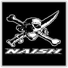 "Naish Windsurfing Kiteboarding Pirate Car Bumper Window Sticker Decal 4.5""X4.5"""
