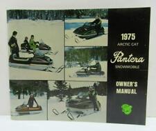1975 Arctic Cat Pantera snowmobile Lot, Owners Manual Service Book Key & Decal