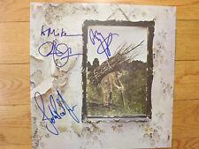 Led Zeppelin signed lp by 3 coa + Proof! Jimmy Page Robert Plant John Paul Jones