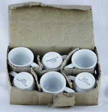 Vintage Set of 6 American Airlines Demitasse Espresso Cups White deSter  73CU006