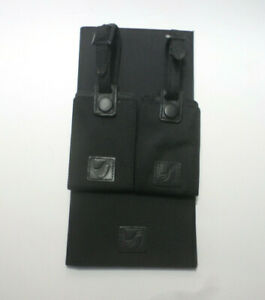 "Vtg Tumi Black Passport Case Wallet 5"" x 9 3/4""+2 Luggage ID Tags 6 Card Slots"