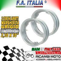 5650 2 CERCHI TUBELESS FA ITALIA GRIGI 2.10-10 VESPA ET3 PRIMAVERA 125 RIBASSATO