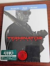 Terminator Genisys 2D+3D Bluray Steelbook 2 Disc Debossed (HKG Ver.) Region A