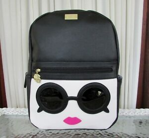 Luv Betsey Johnson Backpack Kitsch Sunglasses School Travel Bag Purse NWT