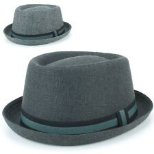 Porkpie Hat Pork Pie Trilby Hawkins Tweed Fedora Stingy Brim Jazz Ska Retro