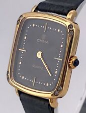 Cyma Cal. 956.031 Vintage Watch Quartz Gold Plated Lady 22 mm Non Working 3WC