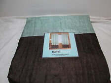 "NEW HOTEL LUXURY Drapery WINDOW PANELS Two-54""X90"" - Sage Green and Chocolate"