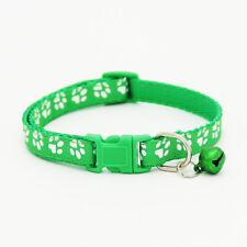 Collar de Ajuste Cuello Hebilla de Campana Huellas para Gato Perro Gatito Animal
