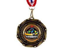 2nd o 3rd posizionare le medaglie 45 mm con Gratis Incisione Nastro /& fino a 30 Lettere 1st