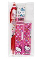 Hello Kitty Mechanical Pencil 1 P & Eraser 1P & Leads 2 P Set School Supplies
