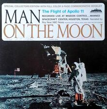 MAN ON THE MOON - FLIGHT OF APOLLO 11 - LP + 8 PG BOOKLET - EVOLUTION LBL
