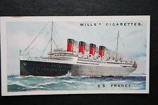 SS FRANCE   Original 1920's Vintage Card