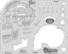 "Artool Iwata Craig Fraser Skullmaster Steam Driven ""Tick Tock"" Airbrush Stencil"
