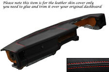 RED STITCH DASH DASHBOARD LEATHER SKIN COVER FITS JAGUAR XJ40 XJ6 SOVEREIGN