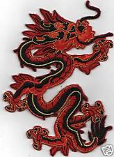 LARGE RED DRAGON IRON ON PATCH  buy 2 get 1 free = 3 of  these