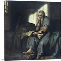 ARTCANVAS The Apostle Paul in Prison 1627 Canvas Art Print by Rembrandt van Rijn