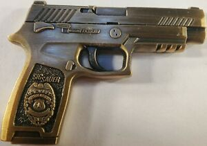 """Sig Sauer Master at Arms US Navy Challenge Coin 2.5"""" NOT A WEAPON/FIREARM  137"""