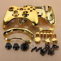 New Wireless Controller Full Case Shell Cover +Buttons for Xbox 360 Plating Gold