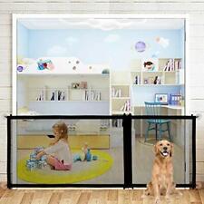 SEEKSUNG Stair Gates for Dogs, Adjustable Indoor Magic Door with Zipper Has 3