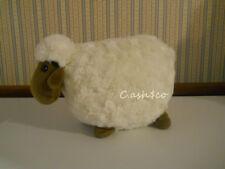 "Lamb Sheep 11"" pillow plush white cream brown face stuffed animal toy      ZA"