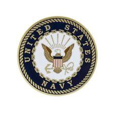 "1 3/4"" U.S. Navy Adhesive Metal Medallion"