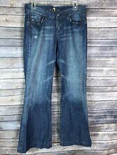 Seven 7 For All Man Kind Dojo Jeans Size 30 Destressed Flare Denim Made in USA B